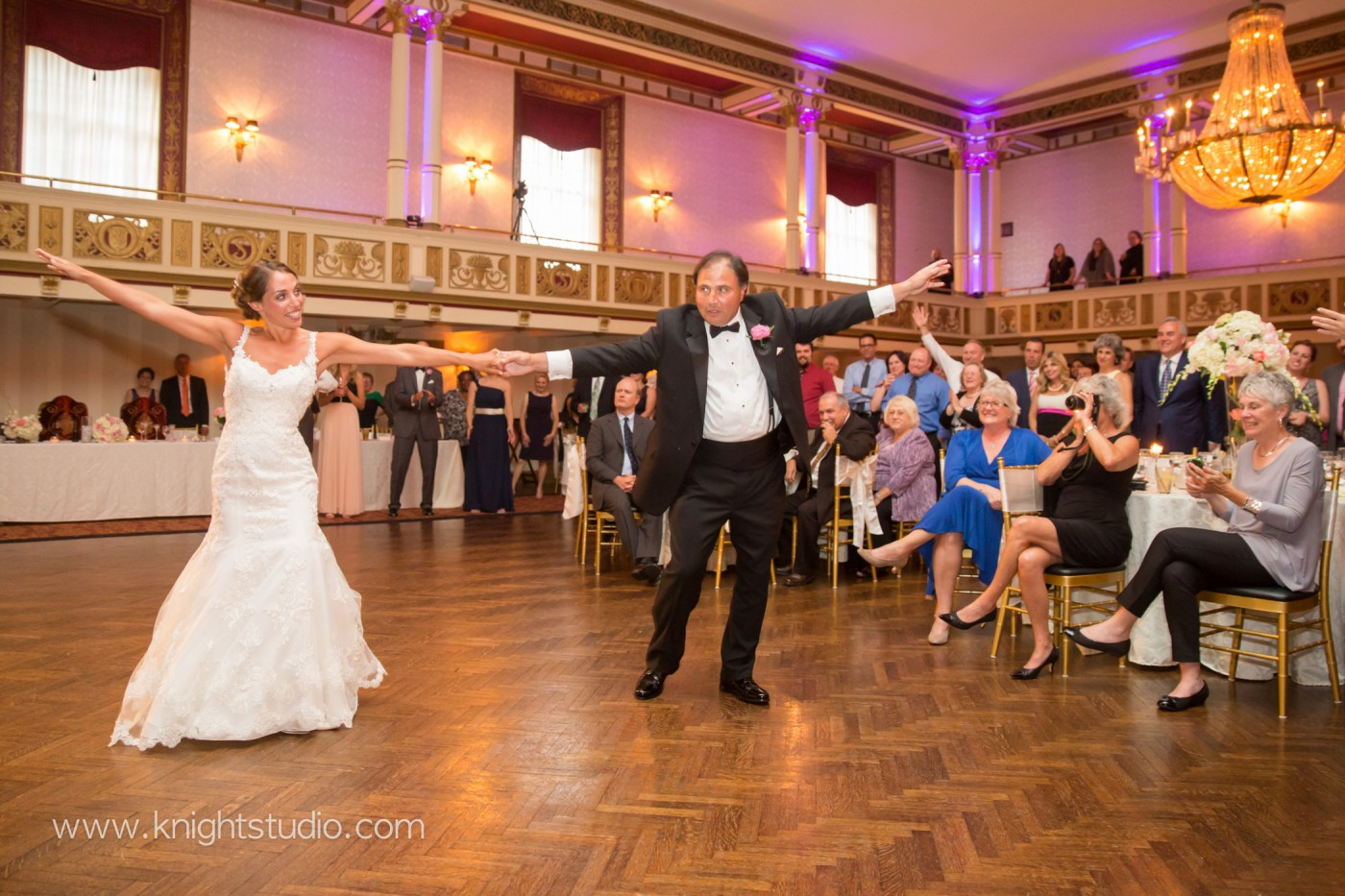 Real wedding, Statler City, Buffalo NY, Knight Studio Photographers, photography